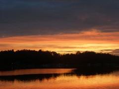 Incredible Marble Lake Sunset