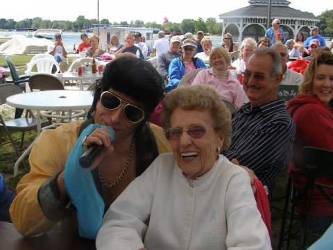 Is that Elvis at the Park Party?