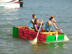 "The ""Single Ladies"" Win at the 2013 Cardboard Boat Race!"